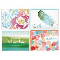 Hallmark Blank Cards (Watercolor Designs, 40 Cards with Envelopes) - 5WDN2068