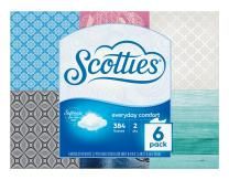 Scotties Everyday Comfort Facial Tissues, 64 Tissues per Box, 6 Pack