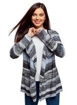oodji Ultra Women's Knitted Cardigan with Asymmetric Hem