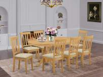 9 PC Dining room set - Kitchen dinette Table and 8 Kitchen Dining Chairs