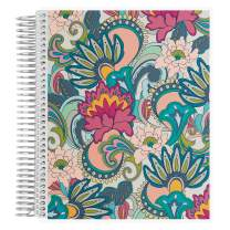 """Erin Condren Coiled Notebook (Productivity Layout) - Playful Paisley Designer Interchangeable Cover, Lined Paper with to Do List, Measures 7""""x 9"""", Boost Productivity, Durable, Pretty, Organize"""