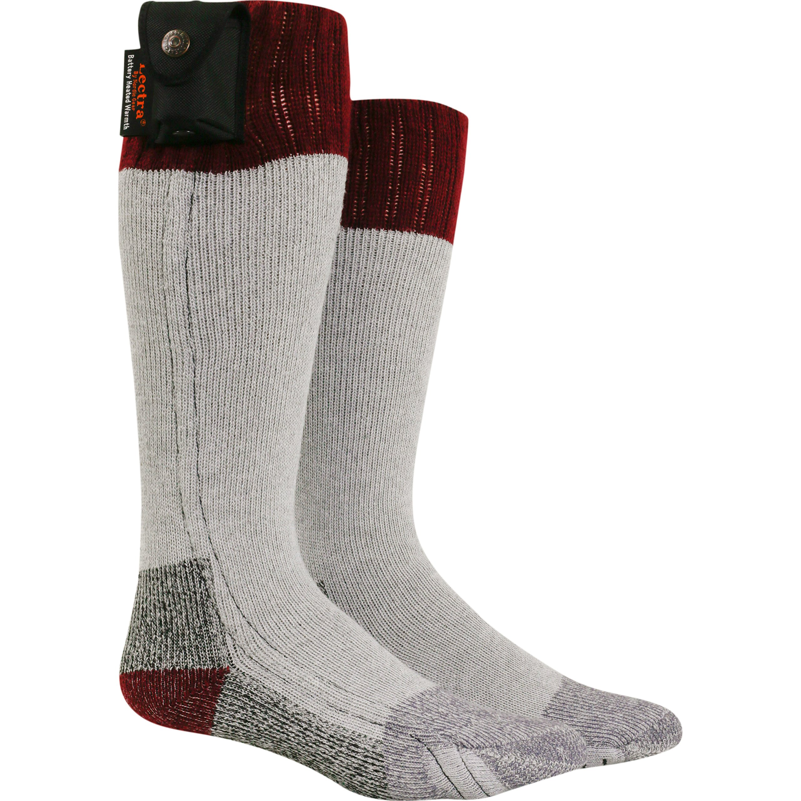 Nordic Gear Unisex Lectra Sox-Electric Battery Heated Socks - Large/X-Large - Maroon
