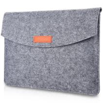 """Procase 12-12.9 Inch Sleeve Case Bag Compatible for MacBook 12"""" Surface Pro 7/6/5/4/ 3 2017, Surface Book 3 13.5""""; iPad Pro 12.9 Portable Carrying Protective Cover for 11"""" 12"""" Chromebook -Gray"""
