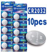 【5-Year Warranty】 CR2032 3V Lithium Battery Coin Button Cell 10 Pack