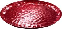 """Alessi""""Joy n 3"""" Round Tray in Steel Colored with Epoxy Resin with Enamel Finish, Pomegranate"""