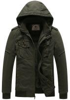 WenVen Men's Winter Fleece Jacket with Hood Thicken Coat