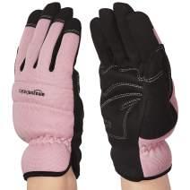 AmazonBasics Women's Work or Garden Gloves - Large, Pink