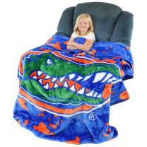 "College Covers NCAA Rachel Throw Blanket, 63"" x 86"", Florida Gators"