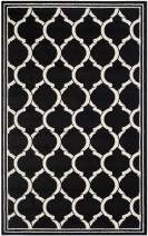 Safavieh Amherst Collection AMT415G Geometric Trellis Area Rug, 4' x 6', Anthracite/Ivory