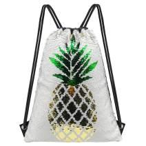 Unicorn Gift Mermaid Sequin Bag,Reversible Drawstring Backpack Glitter Dance Bag