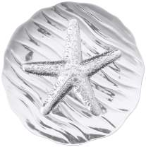Wilton Armetale Sea Life Starfish Large Round Serving Tray, 15.75-Inch-by-15.5-Inch