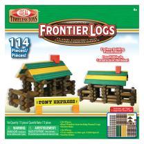 Ideal Frontier Logs 114 Piece Classic Wood Construction Set