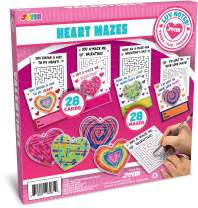 JOYIN 28 Pack Valentines Day Gift Cards with Gift Heart Maze Toys for Classroom Exchange Prizes, Valentine Party Favors Toys