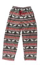 Lazy One Pajama Pants for Men, Men's Separate Bottoms, Lounge Pants, Animal, Nordic (Moose Fair Isle, Medium)