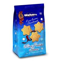 Walkers Shortbread Hanukkah Mini Festive Stars Shortbread Cookies, 4.4 Ounce Bag (Pack of 12)