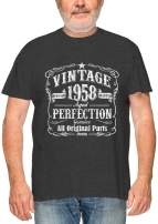 Feisty and Fabulous Vintage 1950 T-Shirt, Birthday T Shirts for Men