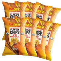 Barnana Organic Plantain Chips - Spicy Mango Salsa - 5 Ounce, 8 Pack Plantains - Salty, Crunchy, Thick Sliced Snack - Best Chip For Your Everyday Life - Cooked in Premium Coconut Oil