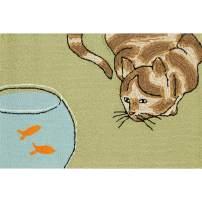 Liora Manne Frontporch Indoor/Outdoor Rug, 2' x 3', Curious Cat