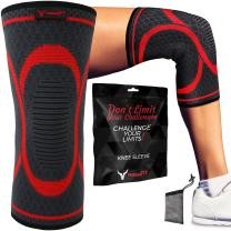 PHERAL FIT Crossfit - Squats & Lifting Knee Sleeve   Compression Support for Running - Workout - Cross Training - Squats - Powerlifting - Weightlifting