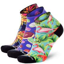 Pure Athlete Running Socks Women and Men - Anti-Blister Ankle Athletic Sock, Colorful Fun