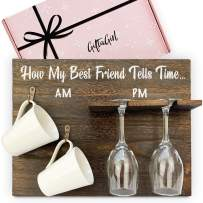 GIFTAGIRL BFF Friend Gifts for Women - Cheeky, but Unique for Women, but Fun. Ideal BFF Gifts for Women or Birthday Gifts for Women who has Everything. Mugs - Glasses Not Included