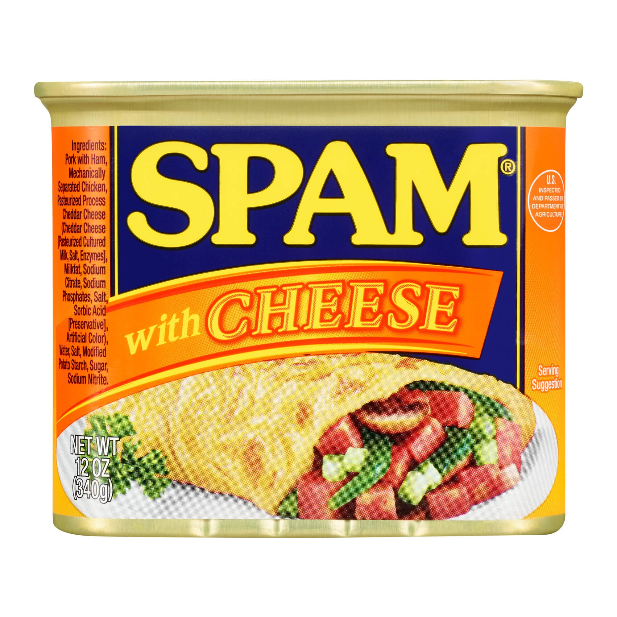 Spam with Cheese, 12 Ounce Can (Pack of 6)