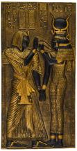 Design Toscano WU68184  Egyptian Temple Stele Plaque: Isis,Black and Gold,10 Inch