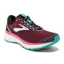 Brooks Womens Ghost 11 Running Shoe - Black/Pink/Aqua - 2A - 9.0