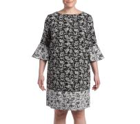 Jessica Howard Women's Plus Size Printed Bell Sleeve Dress
