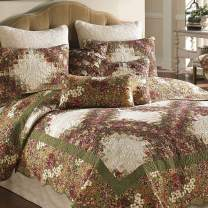 Donna Sharp Full/Queen Quilt - Watercolor Irish Chain Contemporary Quilt with Multicolored Pattern - Fits Queen Size and Full Size Beds - Machine Washable