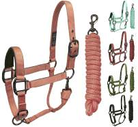 Derby Originals Blackout Stable & Breakaway Reflective Safety Horse Halters with Matching Lead & One Year Warranty, Miniature Horse, Bio Crown Halter