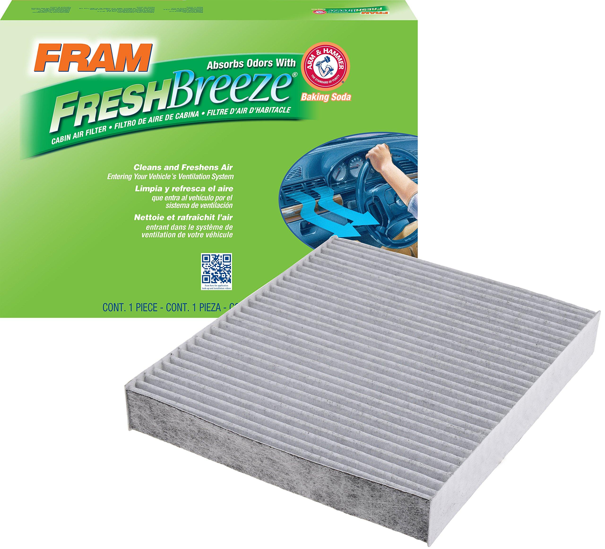 FRAM CF10743 Fresh Breeze Cabin Air Filter with Arm & Hammer