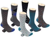 Mio Marino Men's Dress Socks - Colorful Funky Socks for Men - 6 Pack