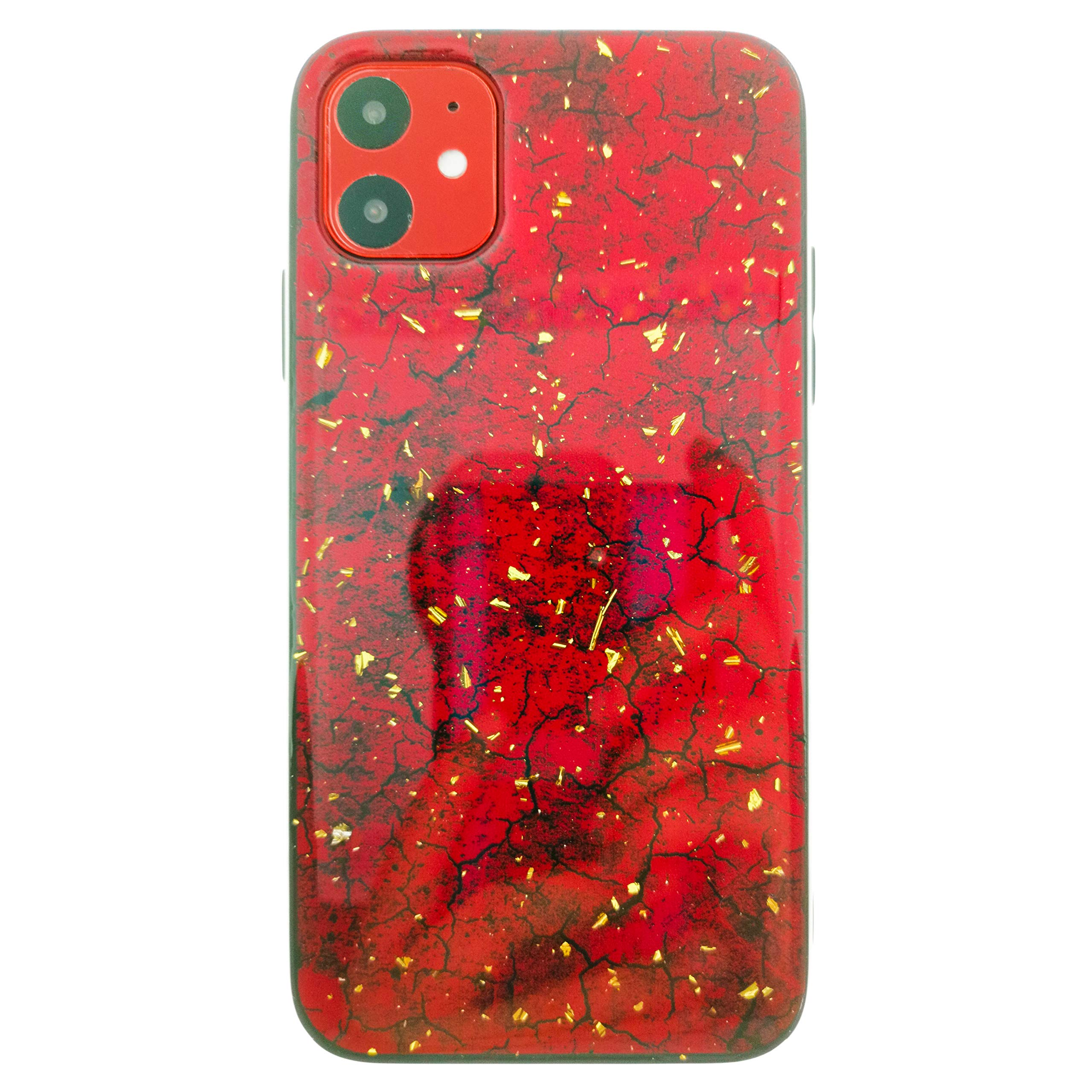 iPhone 11 Case, Ultra Slim Fit Soft TPU Protective Clear Case Shock-Absorption Anti-Scratch Compatible Cover Cases for iPhone 11 [2019] [Jade Red]