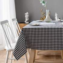 Aquazolax Black and White Square Tablecloth Farmhouse Chic Square Buffalo Plaid Table Covers for Family Dinner Gatherings, 54 inch in Black