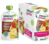 Sprout Organic Stage 2 Baby Food Pouches, Strawberry Pear Banana, 3.5 Ounce (Pack of 12)