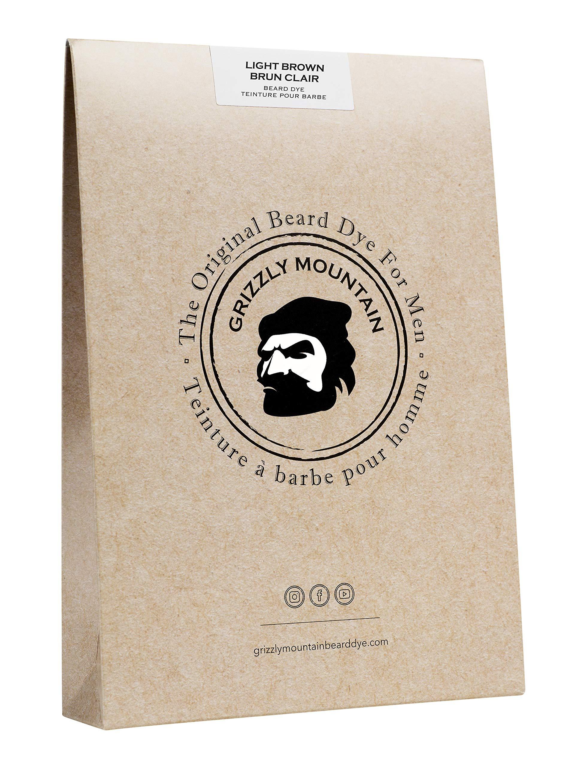 Grizzly Mountain Beard Dye - Organic & Natural Light Brown Beard Dye