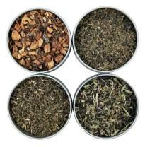 Heavenly Tea Leaves Mint Loose Leaf Tea Sampler, 4 Loose Leaf Mint Teas & Herbal Tisanes