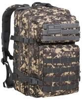 Luckin Packin Tactical Backpack,Military Backpack,Molle Bag Rucksack Pack,45 Liter Large ACU