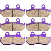 SCITOO Kevlar Carbon Fiber Brake Pads Fit for 1988 1989 1990 1991 1992 1993 1994 1995 1996 1997 1998 1999 2000 Honda Goldwing 1500