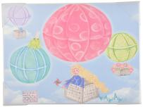 The Kids Room by Stupell Art Wall Plaque, Hot Air Balloons, 11 x 0.5 x 15, Proudly Made in USA