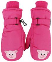 Simpli Kids Children's Winter Waterproof Ski Mittens,Animal
