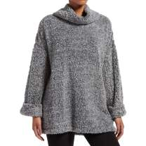 Kendall + Kylie Women's Marled Cowl Neck Bed Jacket