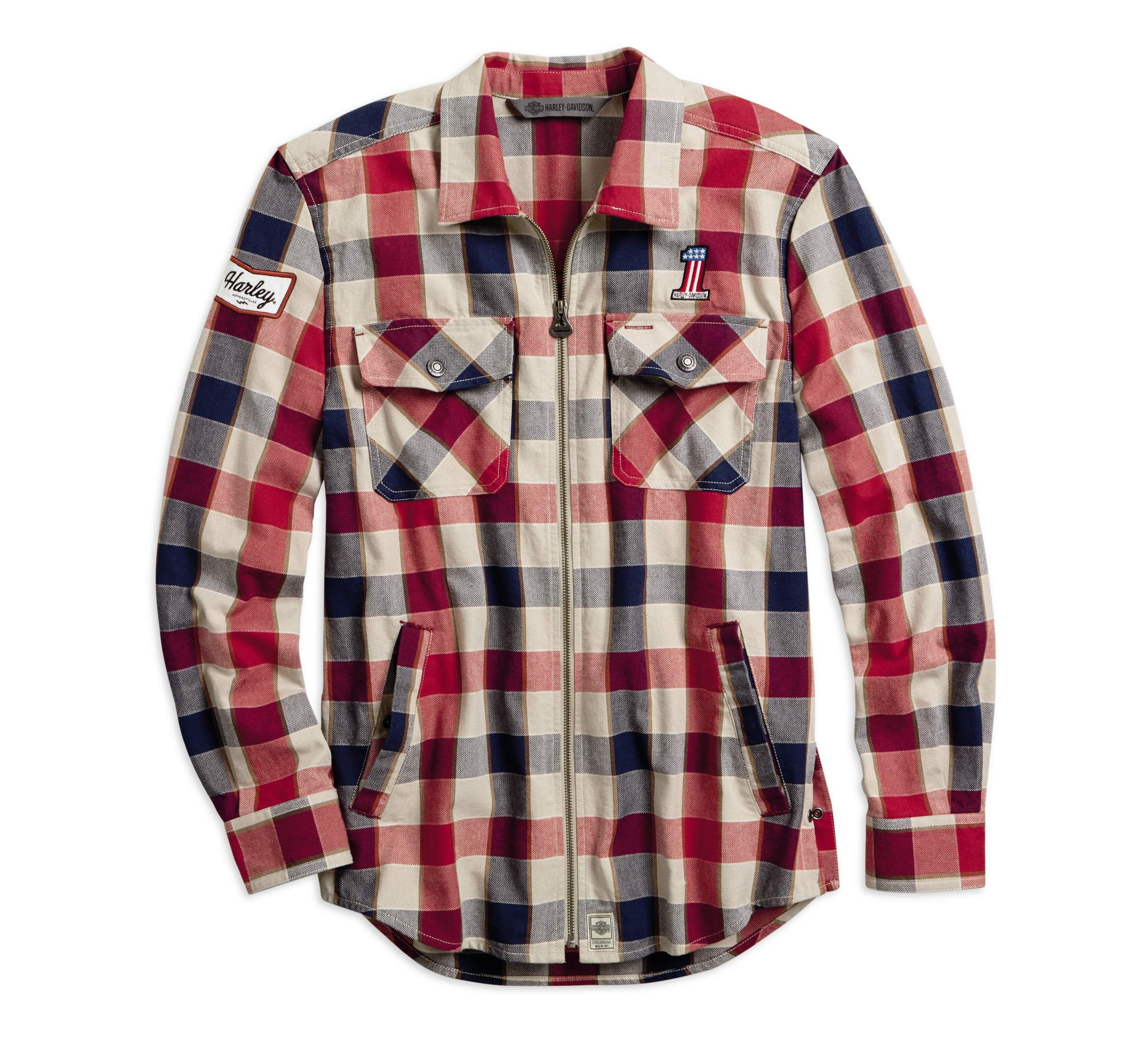 Harley-Davidson Men's #1 Plaid Zippered Shirt