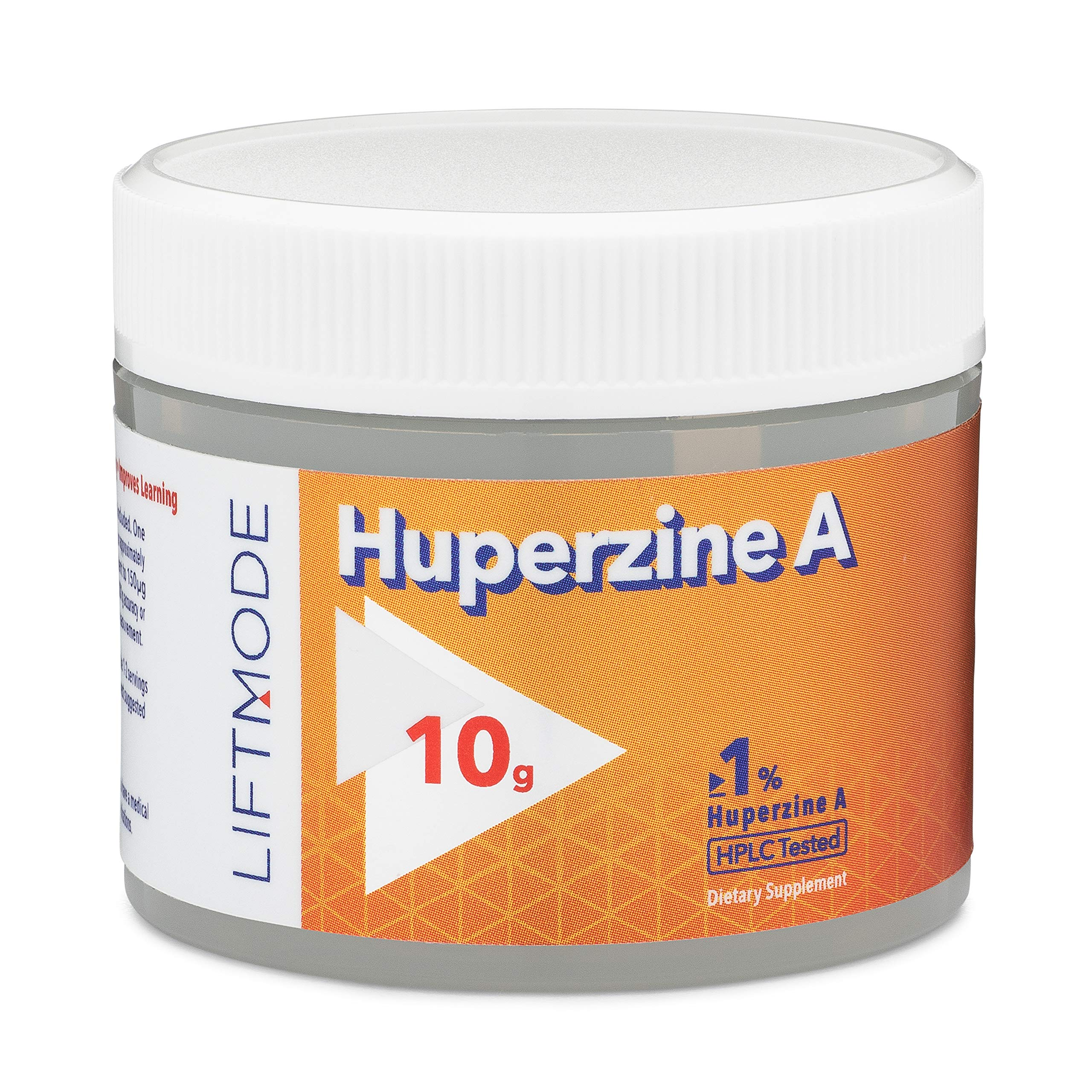 LiftMode Huperzine A Powder Supplement - Supports Focus & Cognition, Enhances Memory & Learning Ability, Huperzia Serrata Extract | Vegetarian, Vegan, Non-GMO, Gluten Free - 10 Grams (500 Servings)