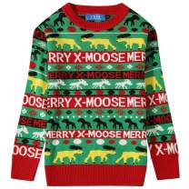SSLR Big Boy's Xmas Holiday Party Funny Pullover Ugly Christmas Sweater