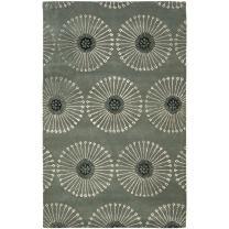 Safavieh Soho Collection SOH821C Handmade Grey and Ivory Premium Wool Area Rug (5' x 8')