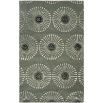 Safavieh Soho Collection SOH821C Handmade Grey and Ivory Premium Wool Area Rug (5' x 8')