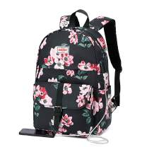 Backpacks for Teen Girls, High School Flora Backpack Book Bags, Notebook Laptop Backpack With USB Port