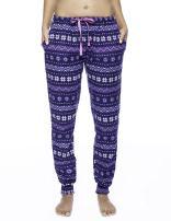 Noble Mount Women's Premium Flannel Jogger Lounge Pants